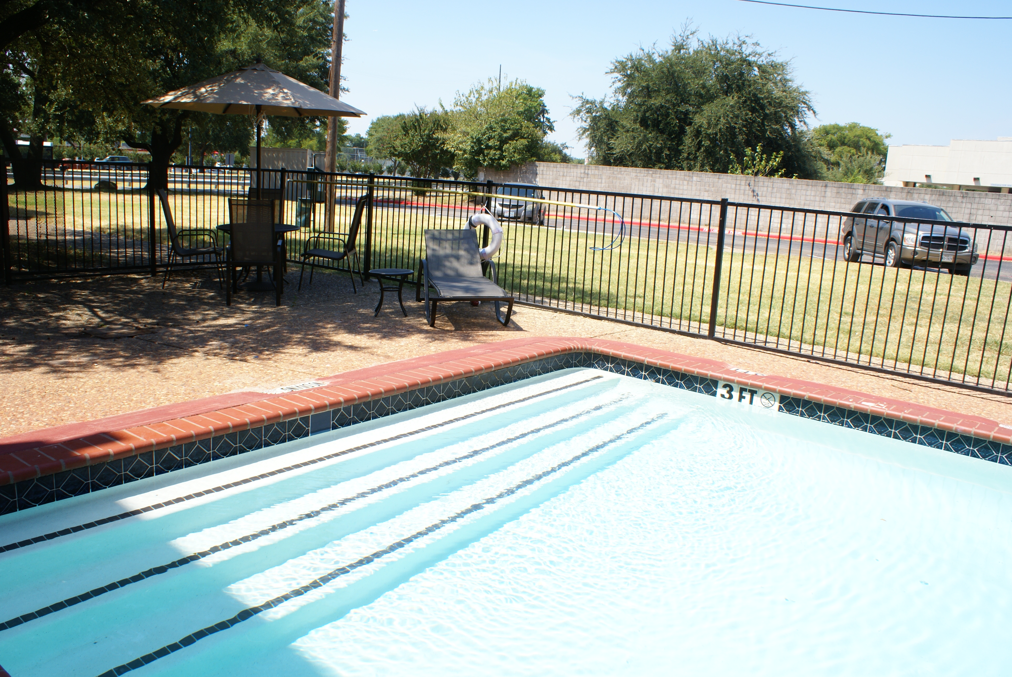 Sparkling pool for residents use
