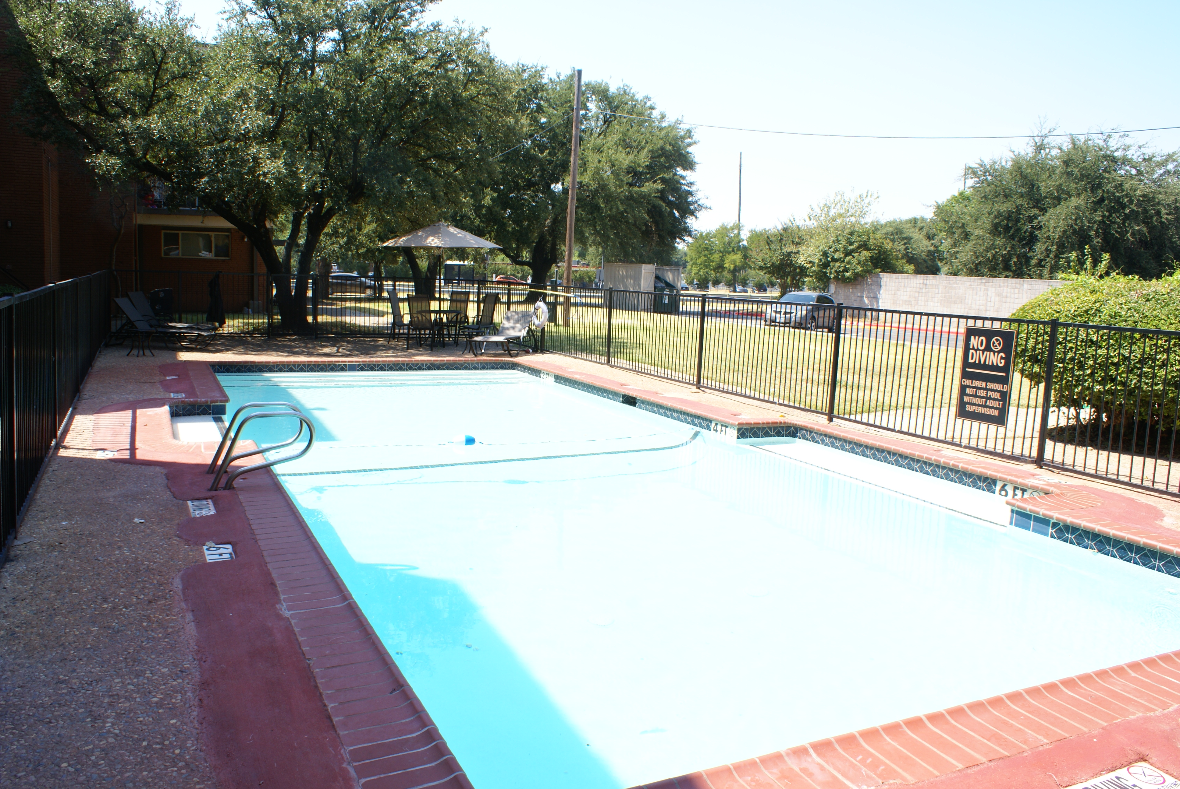 Pool for residents use